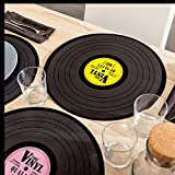 Vinyl 145088 Record Placemat 39 cm Pack of 4