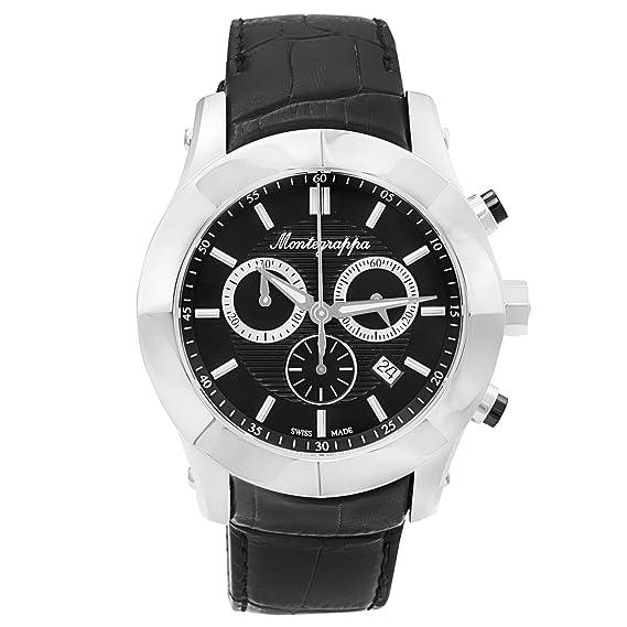 Montegrappa Nero uno Cronógrafo Reloj fabricado en Suiza para hombre idnuwa00 italiano marca: Amazon.es: Relojes