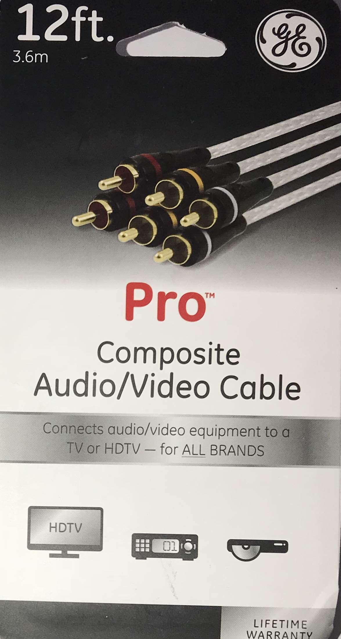GE 12 Feet Pro Composite Audio/Video Cable