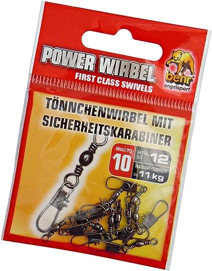 Wirbel G 10 Angelwirbel Tönnchenwirbel Sicherheits Karabiner Top Preis !!!