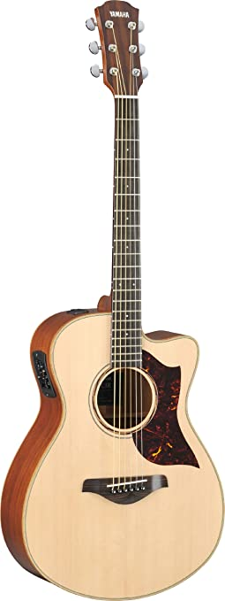 Amazon.com: Yamaha AC3M Concert-Size Cutaway Acoustic-Electric ...