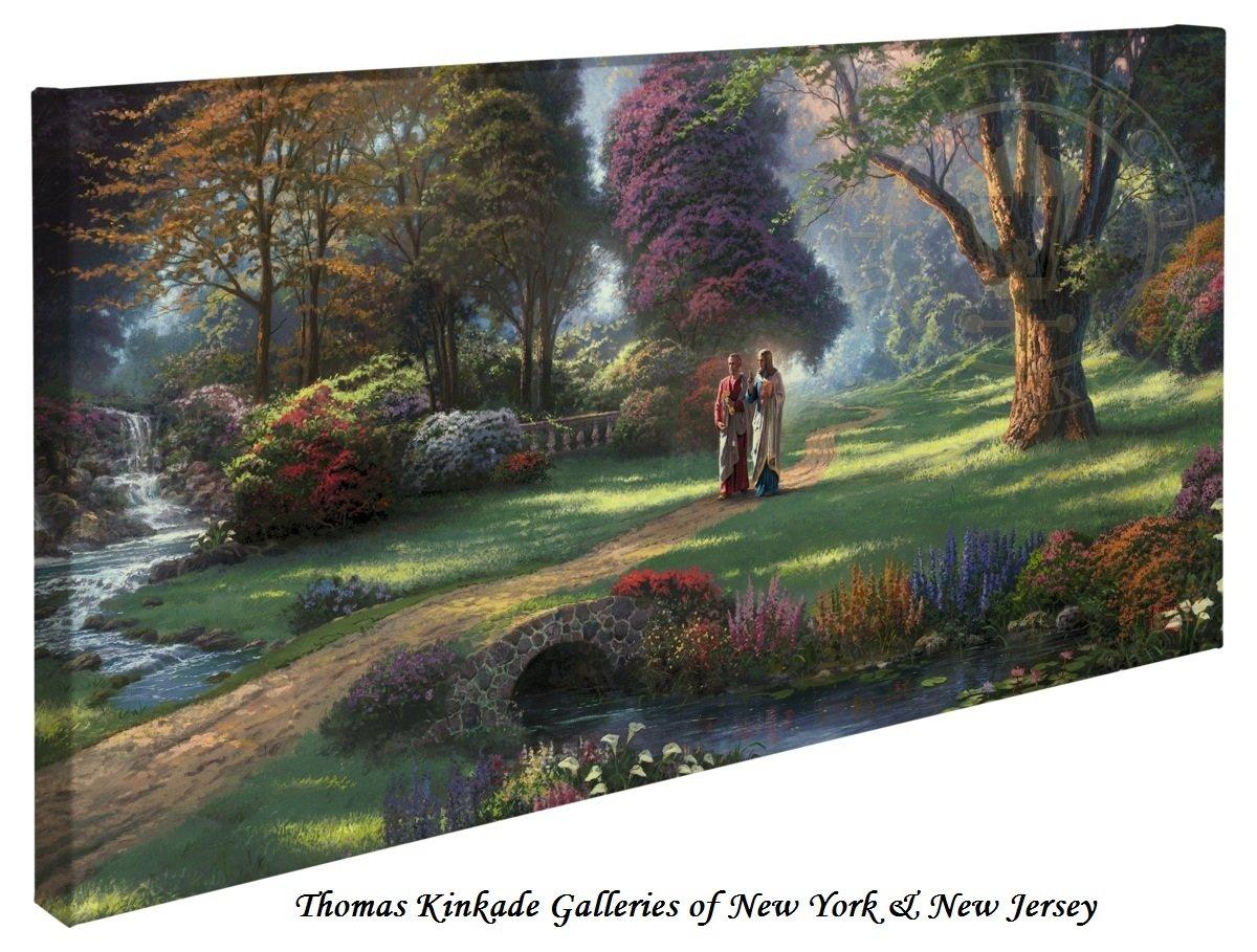 Walk of Faith - Thomas Kinkade 16'' X 31'' Gallery Wrapped Canvas by Thomas Kinkade