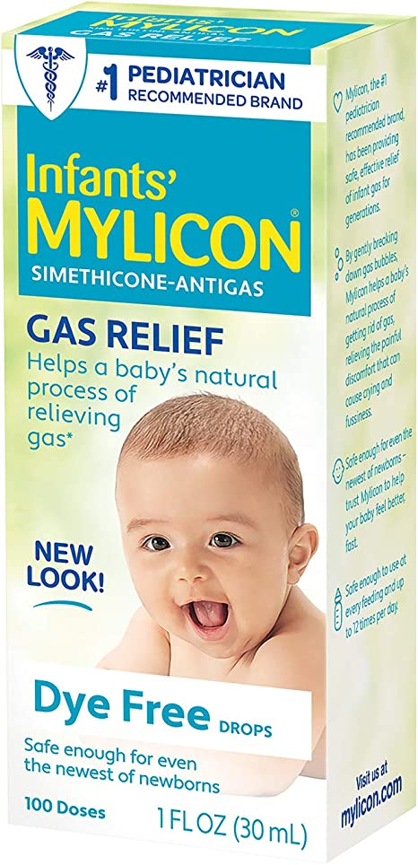 Amazon Com Infants Mylicon Gas Relief Drops For Infants And Babies Dye Free Formula 1 Fluid Ounce Health Personal Care