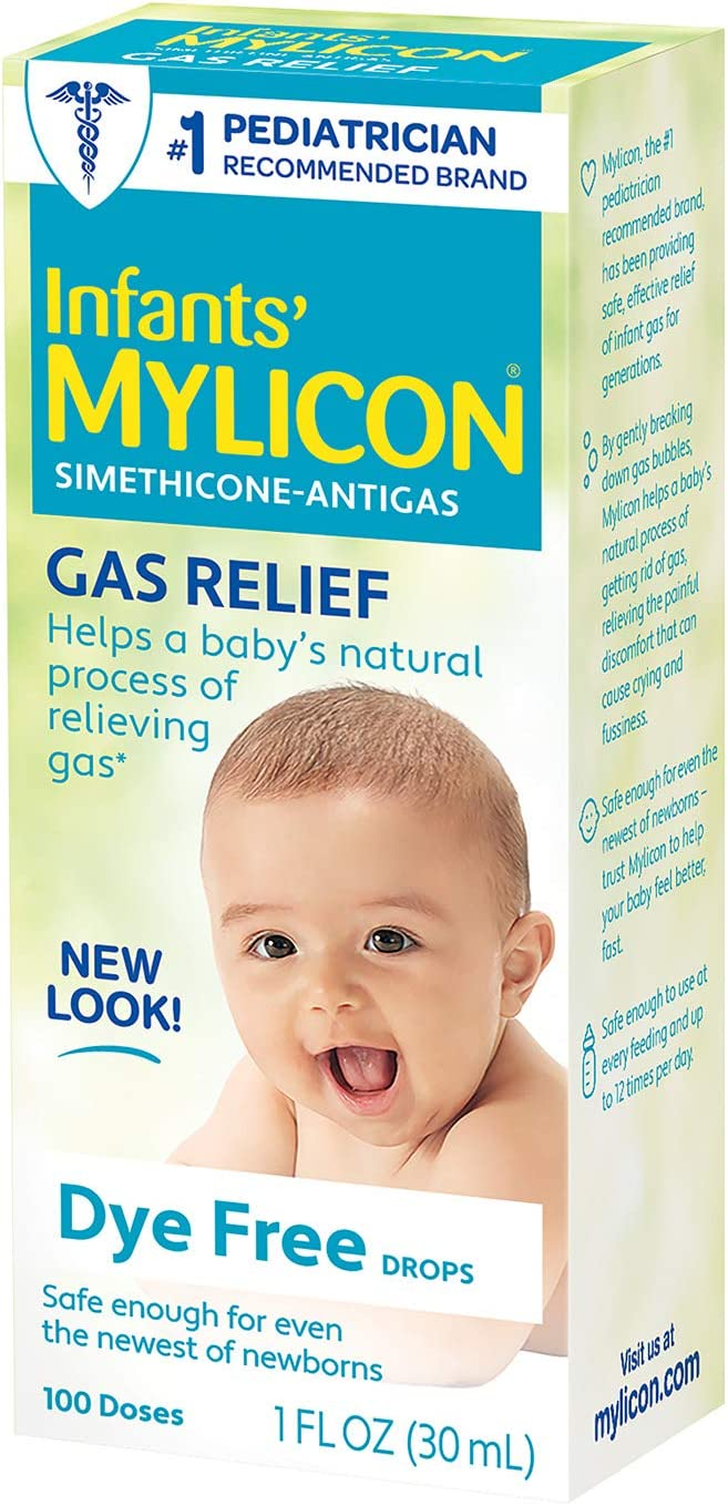 Amazon.com: Infants' Mylicon Gas Relief Drops for Infants and Babies, Dye  Free Formula, 1 Fluid Ounce: Health & Personal Care
