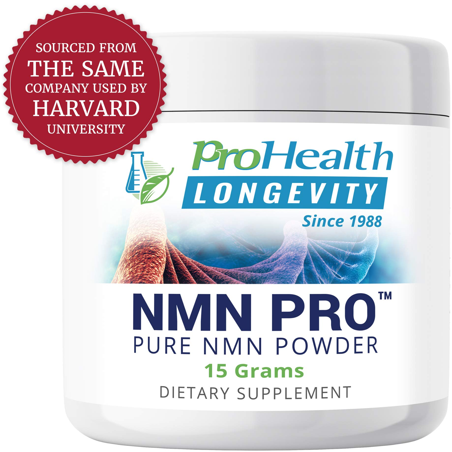 ProHealth NMN Powder (15 Grams) Nicotinamide Mononucleotide | NAD+ Precursor | Supports Anti-Aging, Longevity and Energy | Non-GMO by ProHealth