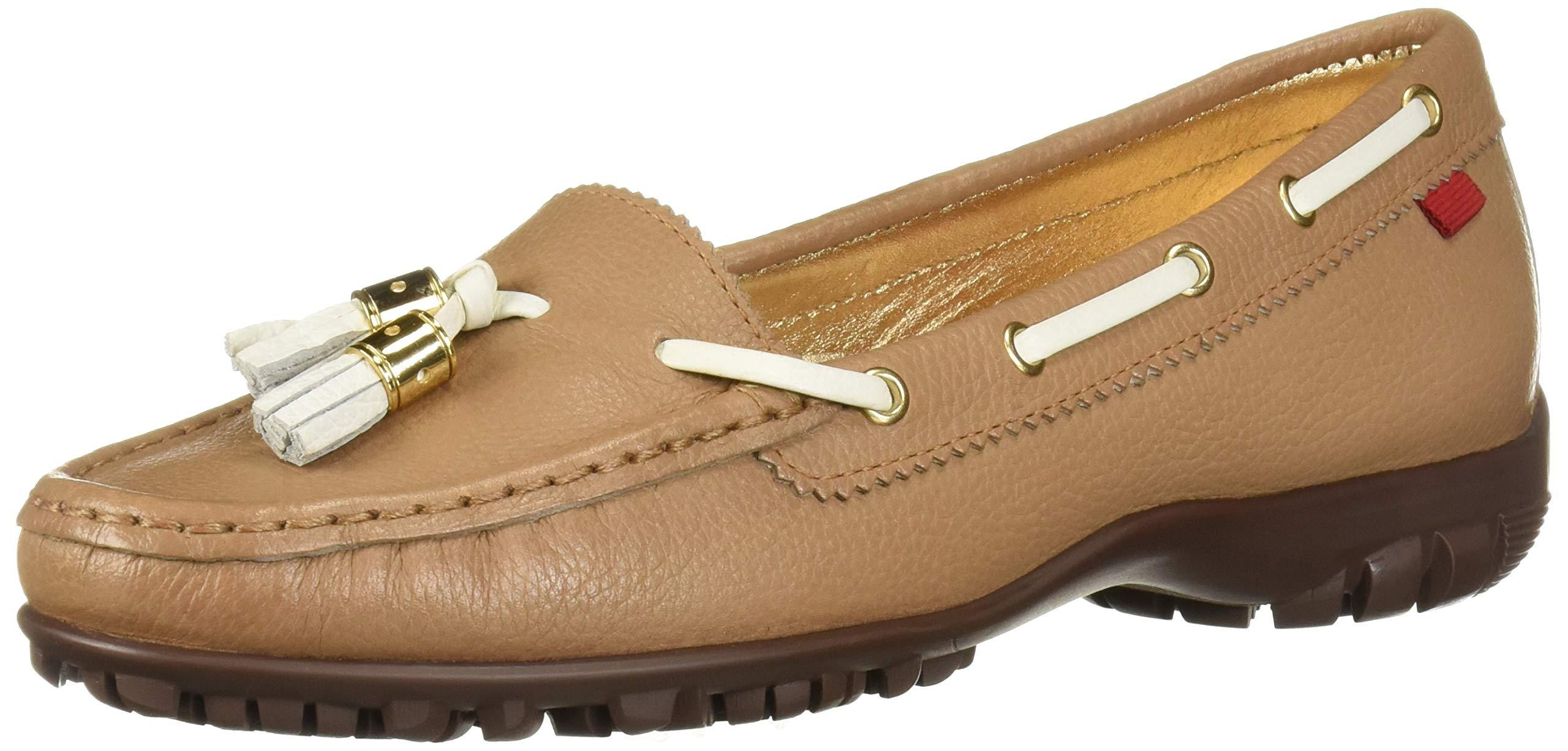 MARC JOSEPH NEW YORK Womens Leather Made in Brazil Spring Street Golf Athletic Shoe, Sand Grainy, 6 M US by MARC JOSEPH NEW YORK