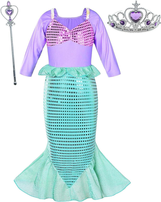 Umupi Little Girls Princess Mermaid Costume Dress Fancy Party Outfits