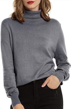 Women Winter Warm High Neck Solid Sweatshirt Long Sleeve Sport Casual Pullover