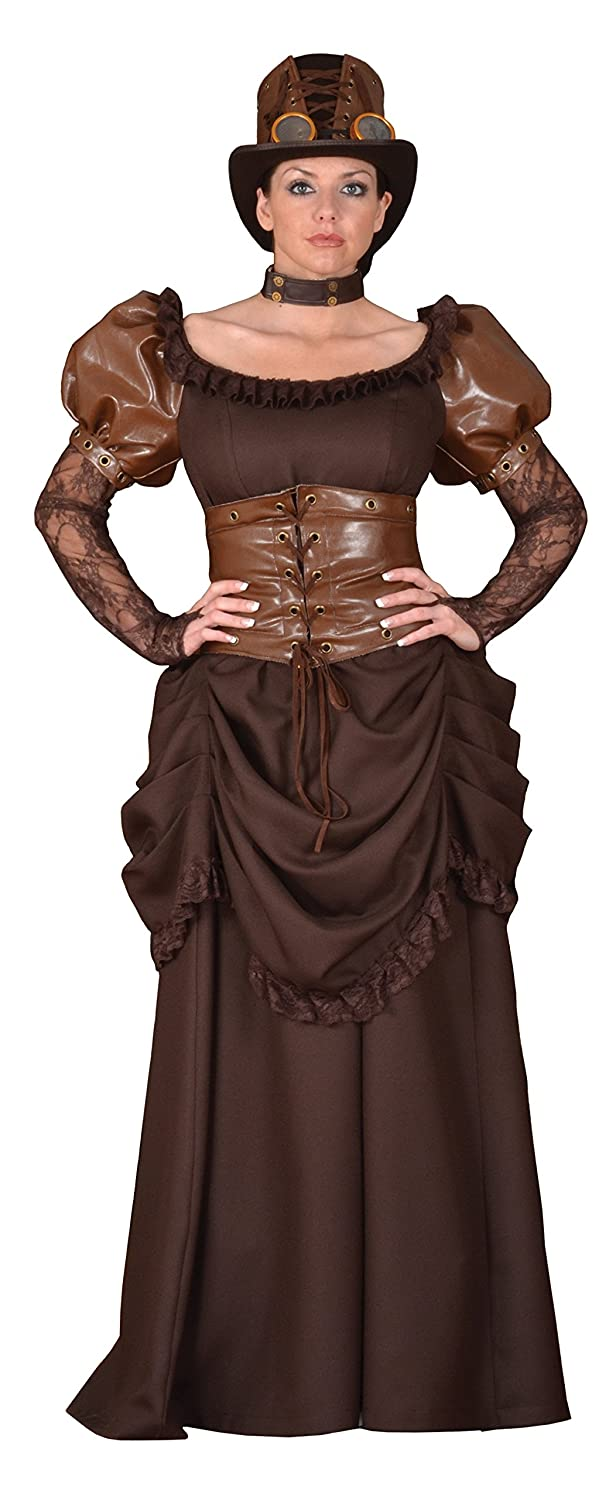 Steampunk Dresses | Women & Girl Costumes Deluxe Steampunk Siren Costume- Theatrical Quality $389.99 AT vintagedancer.com