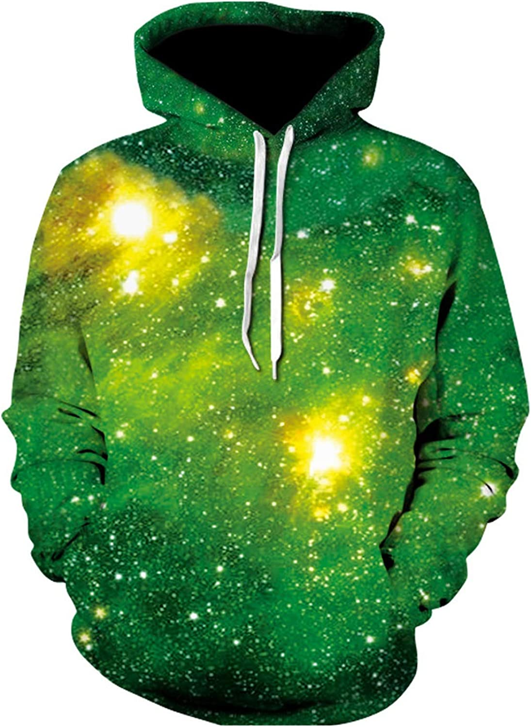 Men Women 3D Hooded Sweatshirts Print Flashing Starry Sky Fashion Hoodies Unisex Pullover Tops
