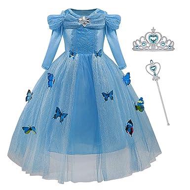 Amazon.com: Disfraz de princesa para niñas con mariposas ...
