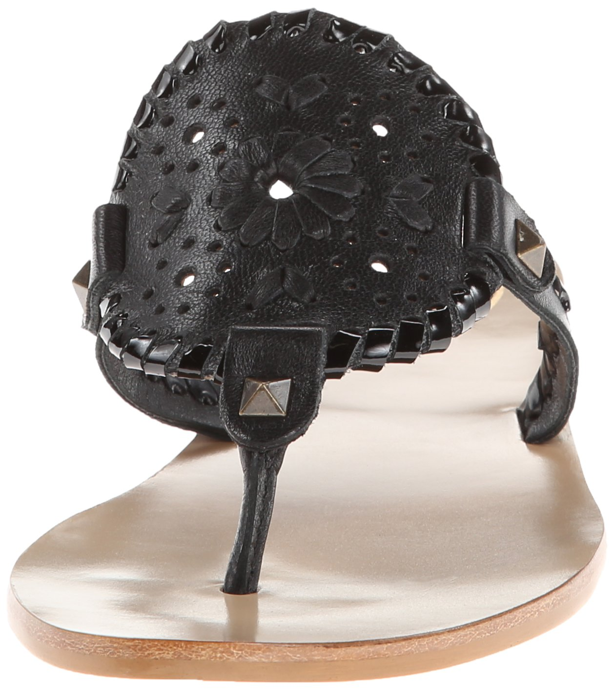 Jack Rogers Women's Georgica Sandal,Black/Black Patent,7 M US by Jack Rogers (Image #4)