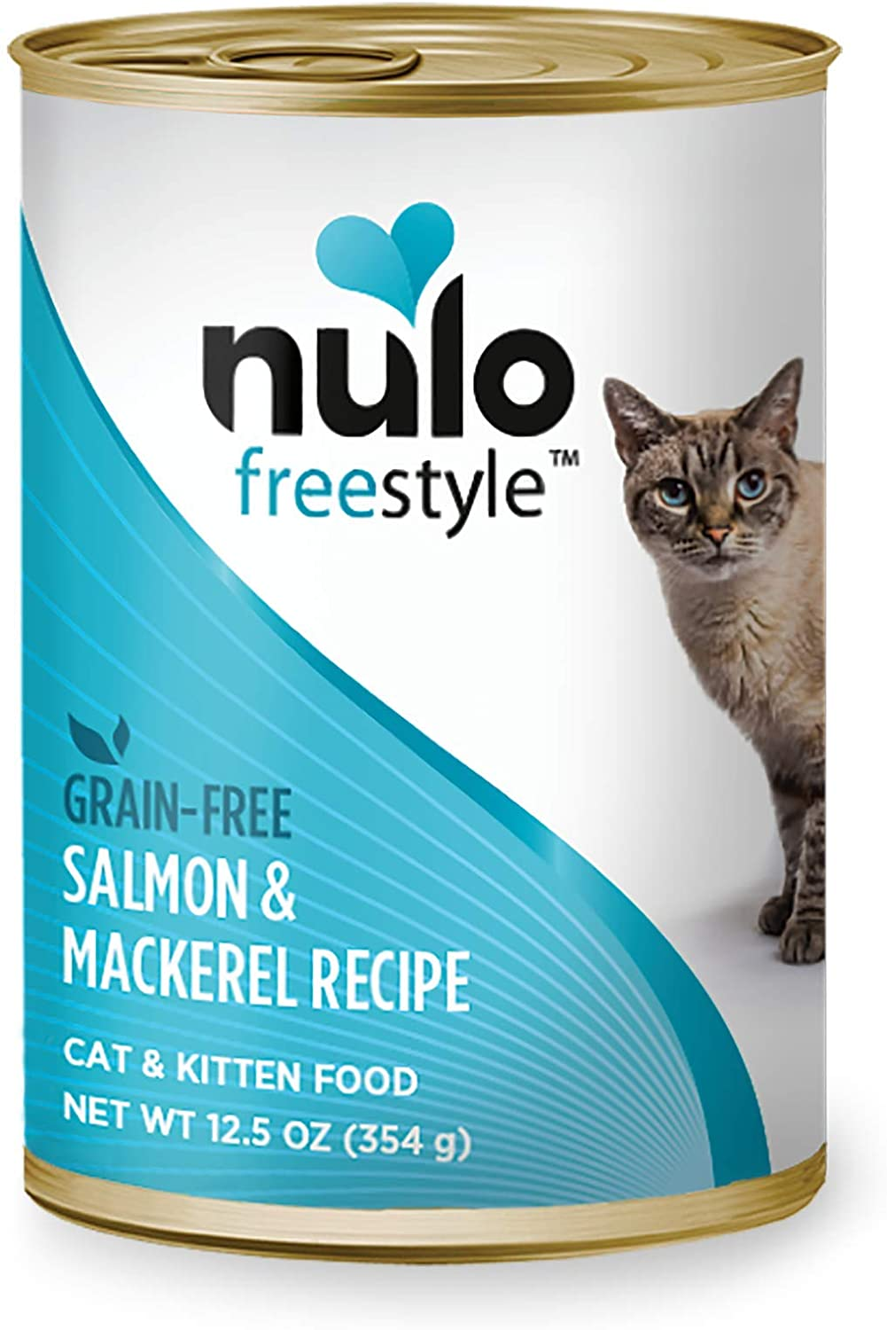 Nulo Grain Free Canned Wet Cat Food (Salmon & Mackerel, 12 oz, Case of 12)