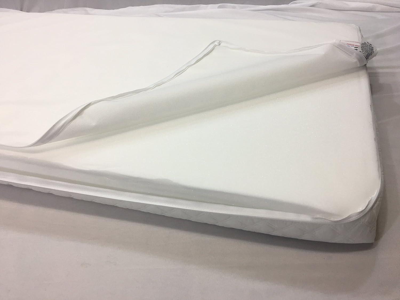 Cuna Cuna de viaje totalmente transpirable infantil colch/ón de espuma con funda acolchada 93 x 64 x 7.5 cm