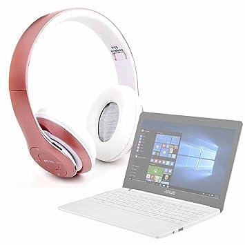 DURAGADGET Auriculares plegables inalámbricos bluetooth en color rosa para Portátil ASUS E203NA-FD020T