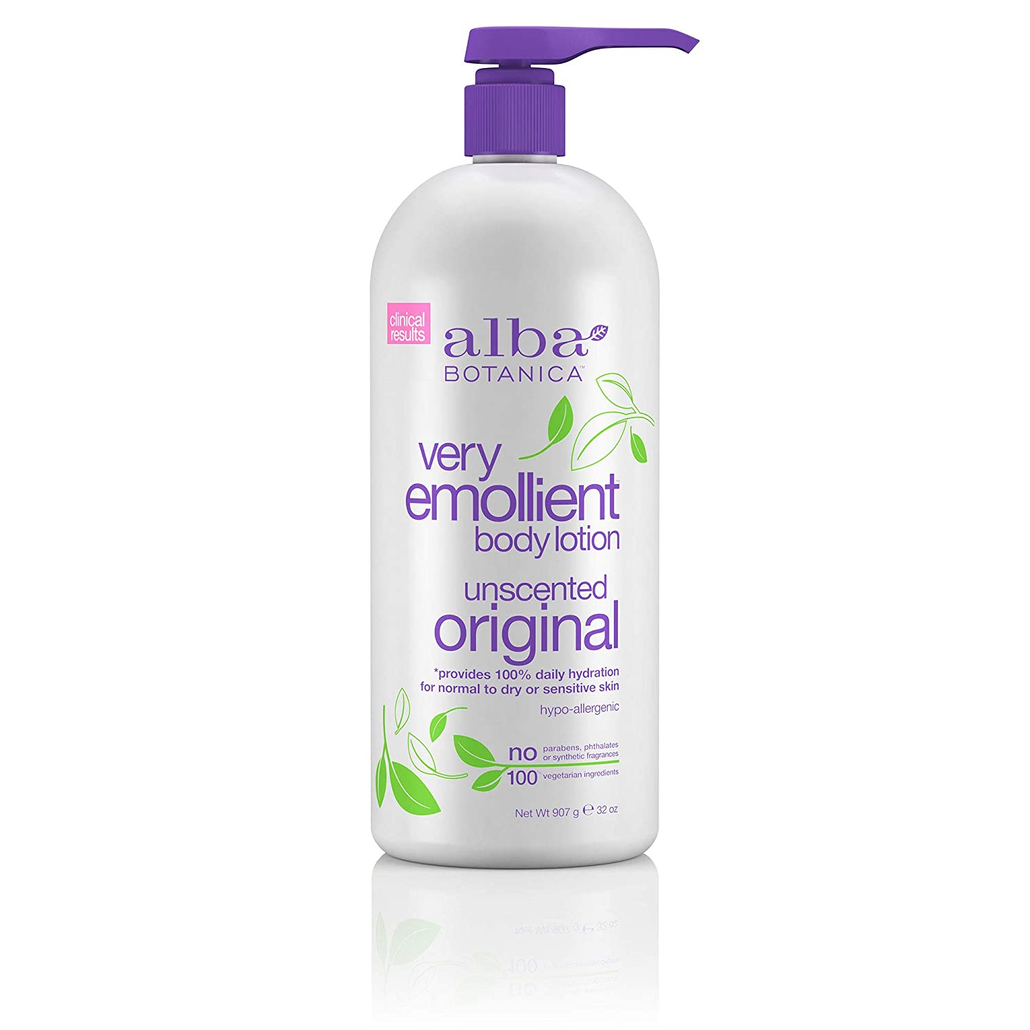 Alba Botanica Very Emollient, Unscented Body Lotion