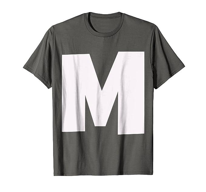Amazon Big Capital Letter M Alphabet Initials T Shirt Clothing