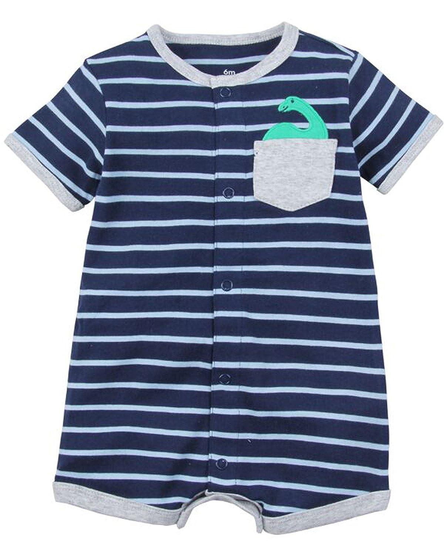76323c711 Kidsform Baby Boy Girls Romper Summer Short Sleeve Bodysuit Print ...