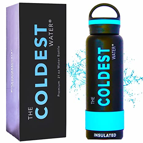 d770b441bb The Coldest Water Sports Bottle Insulated Stainless Steel Hydro Thermos,  Black, 21 Ounce