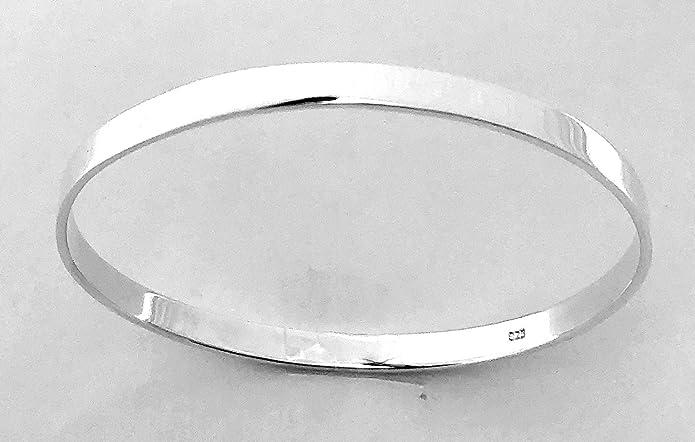 925 Sterling Silver British Hallmark SOLID Heavy Slave BANGLE Bracelet Circumference 22 cm VBB5uNKx1