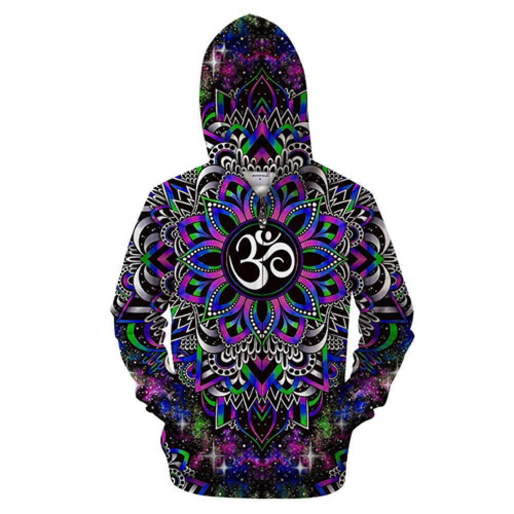 QYIOAZ 3D Zip Hoodie Zipper Hoodies Trainingsanzüge Sweatshirt Magic Coat