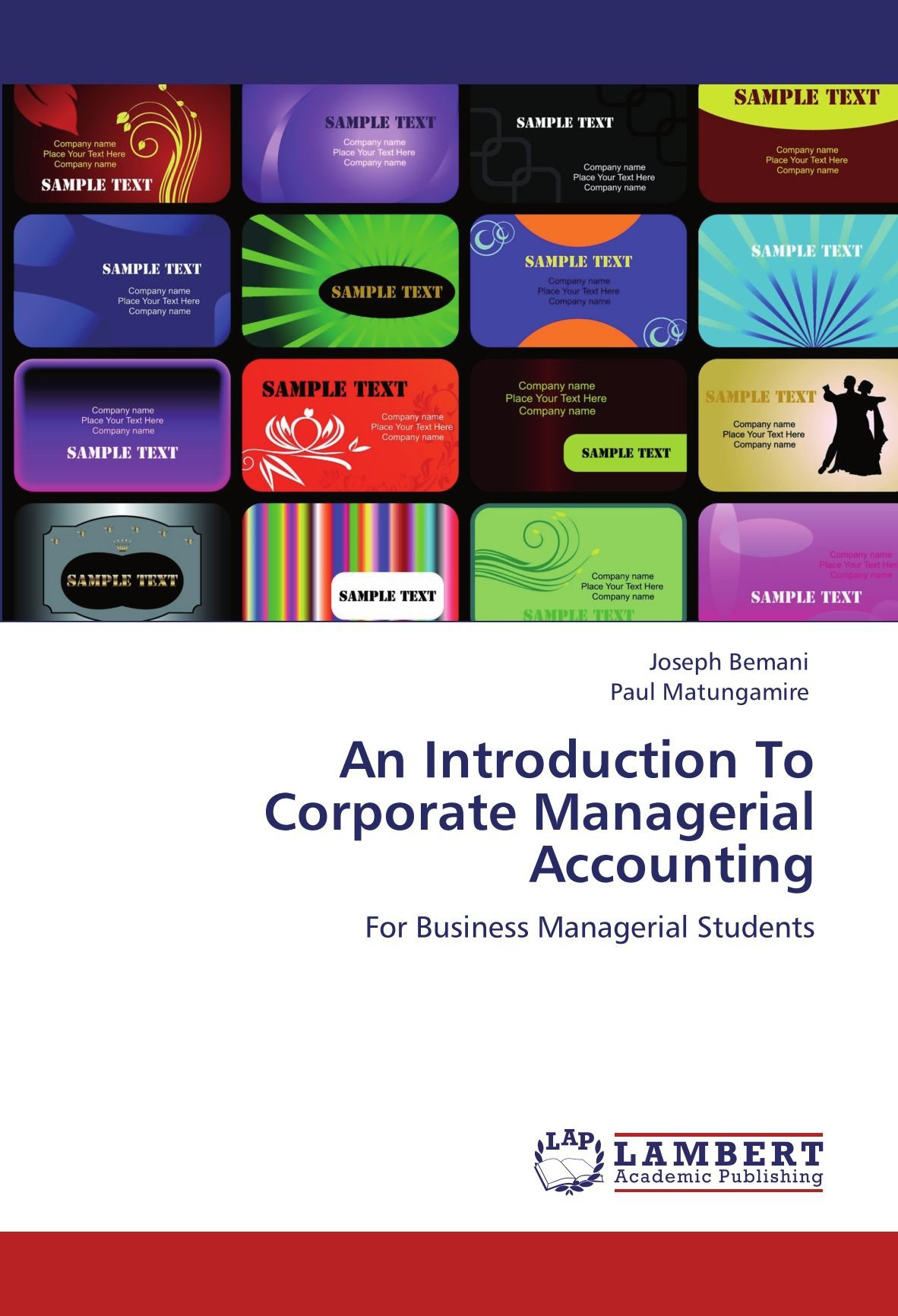 An Introduction To Corporate Managerial Accounting: For Business Managerial Students by Joseph Bemani