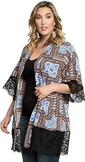 product image for Kiyonna Women's Plus Size Shayla Chiffon Kimono