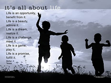 Amazoncom Life Is An Opportunity Mother Theresa Inspirational
