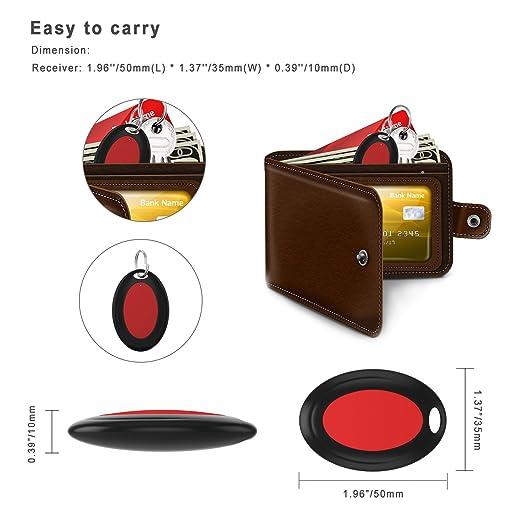 AOGUERBE Localizador de llaves Wireless Key Finder Buscador de Llaves Inalámbrico con Base de Soporte LED Linterna Teléfonos Rastreador Inteligente ...