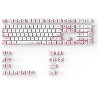 DAGK Fuji Sakura PBT Keycaps Set for MX Switches Mechanical Keyboard Fullsize, Tenkeyless, Winkeyless, 75%, 65%, 60…