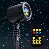 Outdoor Laser Light Projector MYCARBON Static Christmas Laser Light Show Red Green Blue Holiday Projection Lights Waterproof Flash Laser Lights for Christmas,Party,Patio,Lawn,Yard,Garden Decoration