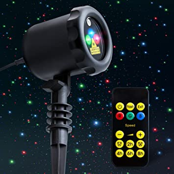 Amazon outdoor laser light projector mycarbon static outdoor laser light projector mycarbon static christmas laser light show red green blue holiday projection lights mozeypictures Images