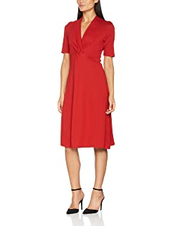 e748414ad6 Marc O'Polo Damen Kleid 706102921081 Rot (Rowan Berry 366) 44 ...