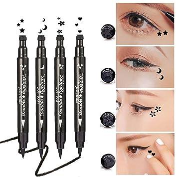 Yuccer Delineadores de Ojos Liquido, Eyeliner Waterproof Stamp ...