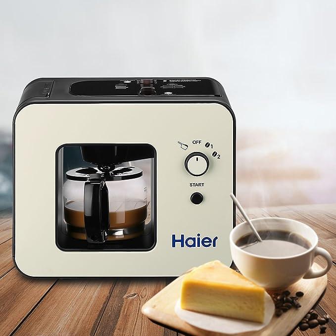 Haier Brew Cafetera automática 4 tazas con molinillo máquinas ...