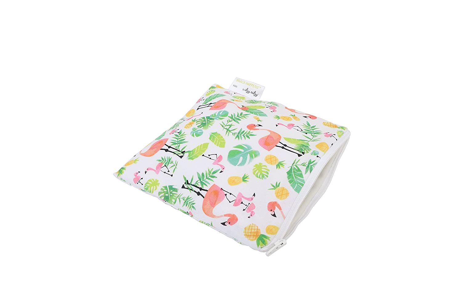 Itzy Ritzy IR-SWB8308 Snack Happens Reusable Snack and Everything Bag, Flamingo Flock