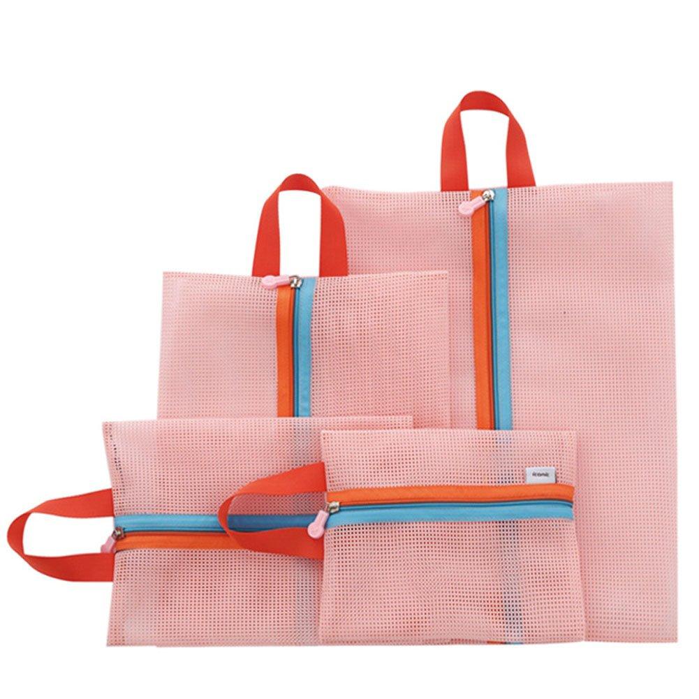 Amazon.com: Lazyaunti Cute Pink Travel Zip Pouch Tidy Luggage ...