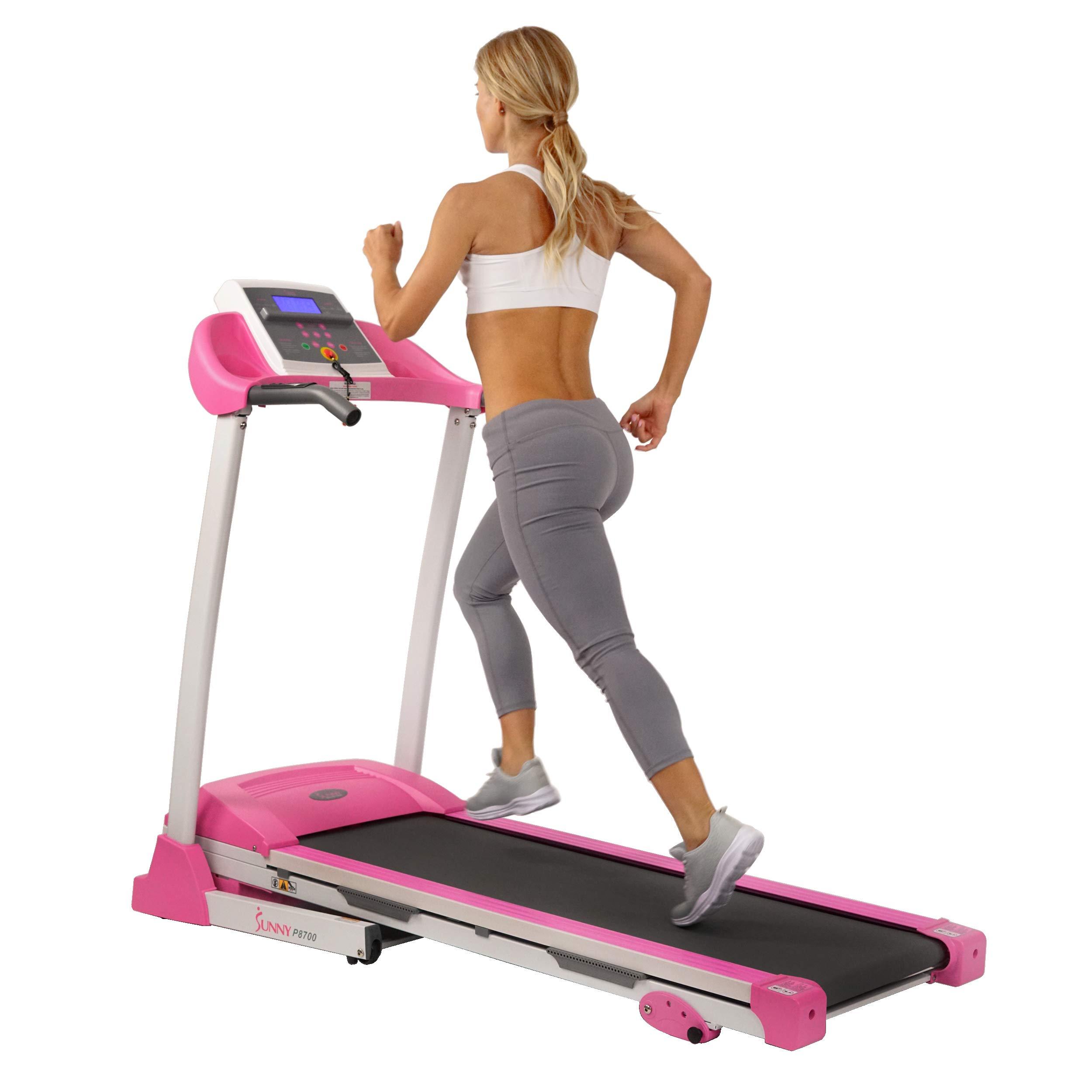 Sunny Health & Fitness P8700 Pink Treadmill by Sunny Health & Fitness (Image #4)