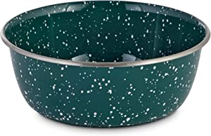 Petco Brand - Harmony Speckled Enamel Coated Steel Dog Bowl, 8.2 Cups, Large, Blue