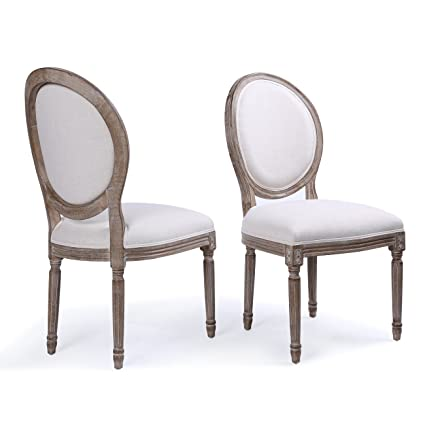 round back dining chairs Amazon.  Belleze Set of (2) Classic Elegant Traditional  round back dining chairs