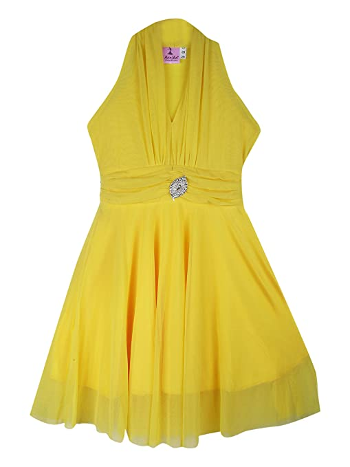 Aarika net a-line Dress Girls' Dresses & Jumpsuits at amazon