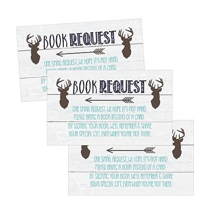 Amazon.com: 25 ciervo libros para bebé petición tarjeta de ...
