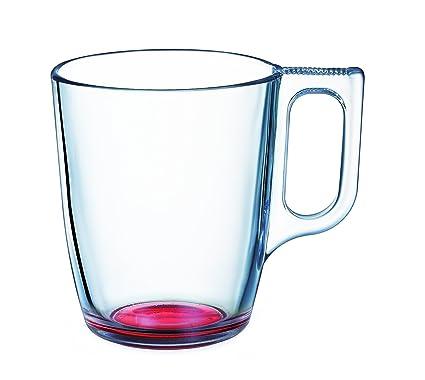 Luminarc 9213706 Crazy - Lote de 6 tazas (cristal, 25 cl), color