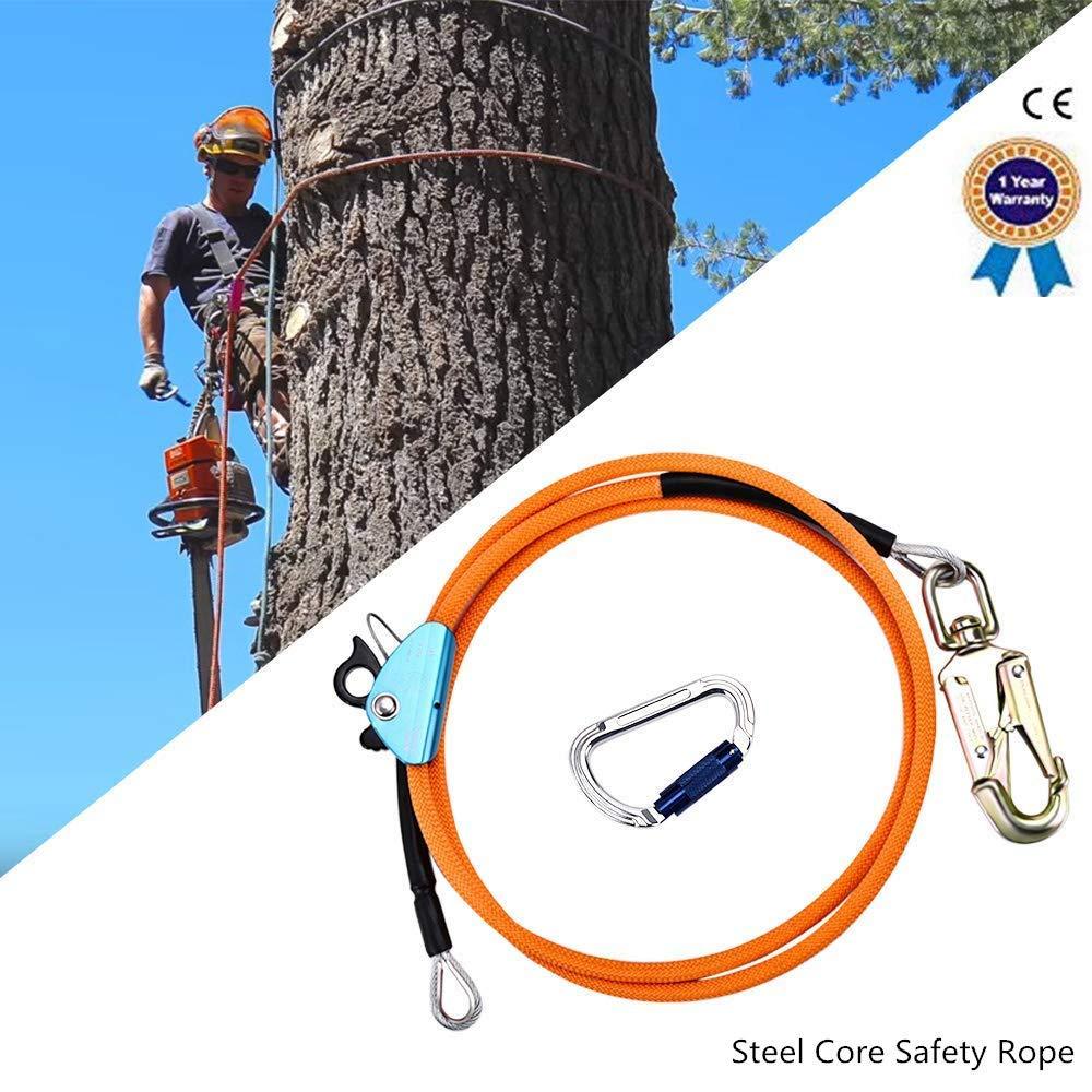 S SMAUTOP Cuerda de seguridad al aire libre, con ajustador de ...