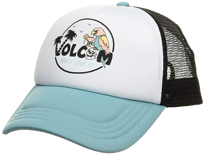 e16d39124e65c6 Volcom Junior's Women's Good Timez Adjustable Trucker Hat, Dusty Aqua One  Size ...