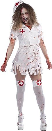 Rubies- Disfraz de enfermera zombie para adulto, Talla única ...