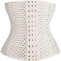 MW & Partner - Midjeformare med mjuka stålstänger – sport underbröstkorsett (svart och beige) – korsett – midjeformare…