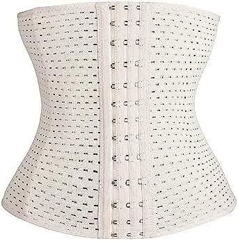 MW & Partner - Midjeformare med mjuka stålstänger – sport underbröstkorsett (svart och beige) – korsett – midjeformare – midjeformare – även plusstorlek (XS – 6XL)