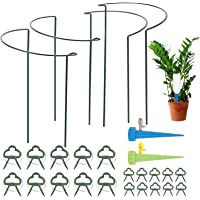 Herefun 26pcs/Set Jardinería Herramienta, 20 Clip de Jardin(10 pequeñas+10 Grandes), 4 Soporte para Plantas Semicircular…