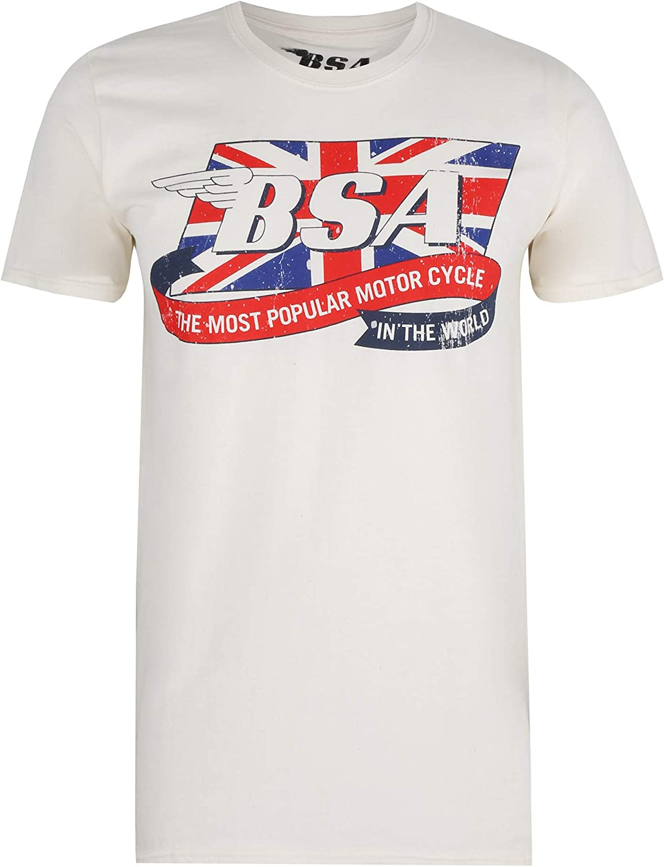 BSA Flag Logo Camiseta para Hombre